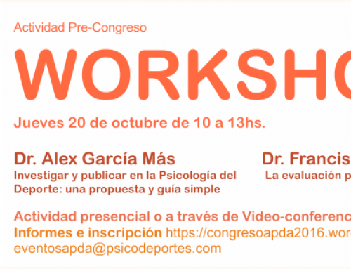 Workshop Congreso 2016, realizado.