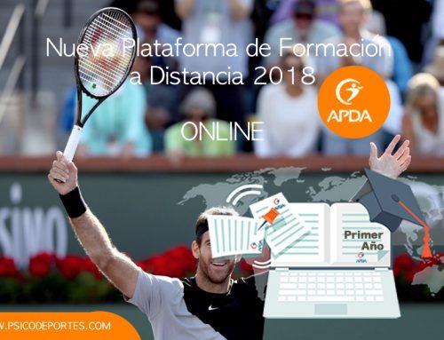Plataforma de Formación a Distancia 2018 ONLINE