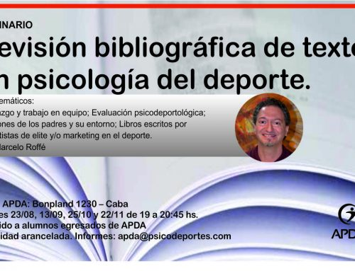 """""""Revisión bibliográfica de textos en psicología del deporte"""""""