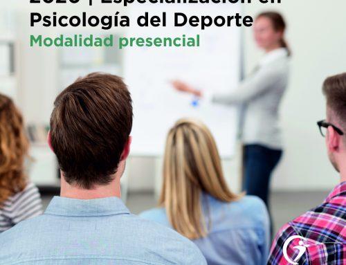 Especialización en Psicología del Deporte, MODALIDAD PRESENCIAL, Ciclo 2020 / 21